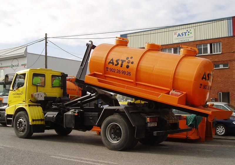 Contenedor tanque residuos